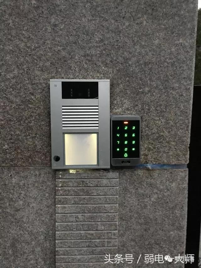 门禁系统现场接线图